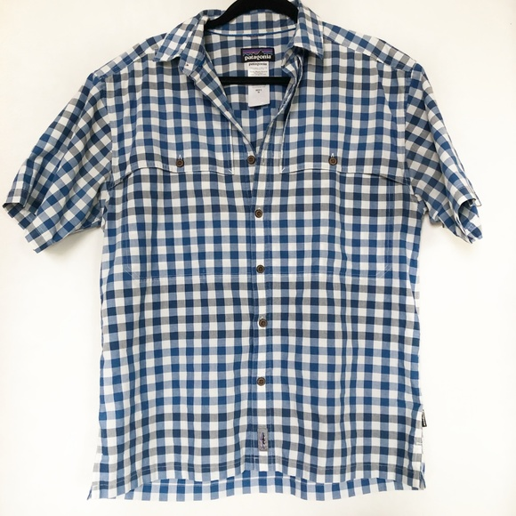 Patagonia Other - Patagonia Blue Checkered Button Up Size Medium